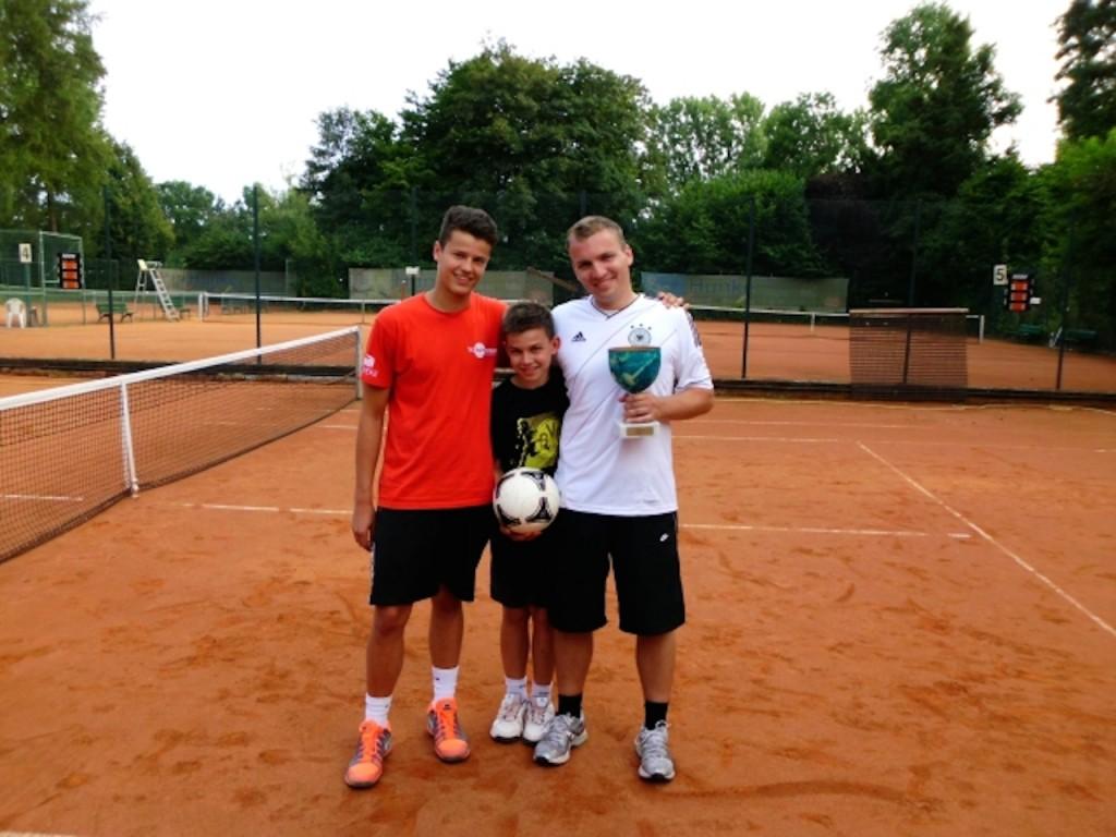 Die Fußballtennis-Champions Simon Brauckmann – Robin Erdmann – Manuel Vogel